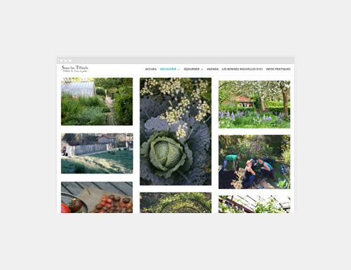 Site WordPress Sous Les Tilleuls